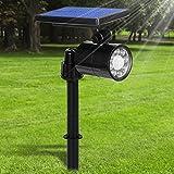 Lamparas Solares 800 Lumens Ultra Potente 8 LED Apliques de Pared, 4 Modos Focos...