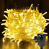 BACKTURE Guirnaldas de Luces Navidad, 25 M 200 LED Cadena de Luces Exterior y...