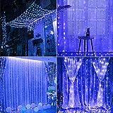 Arcoiris Cortina de Luces LED, IP44 700LED Azul Exterior, Guirnalda de Luces de...