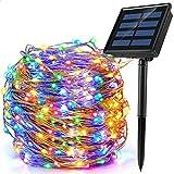 Ankway 200 LED Guirnalda Luces Solares, Cadena Luces Solares 8 Modos 22M/72ft...
