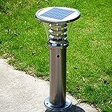 Pointhx Luces de poste de la energía solar al aire libre de la luz del césped...