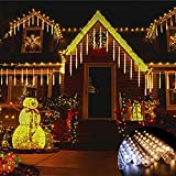 JHTC Meteoros Lluvia Luces LED de Navidad, Guirnalda Luces Exterior de Hadas de...