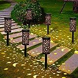 Lámparas Solares para Jardín Golwof 6 Piezas Luz Solar Exterior Jardin Luces...