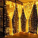 MeaMae Care Luces de cortina 3m x 3m 300 string 8 modos de iluminación USB...