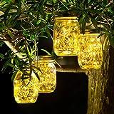 4 Pack Luz Solar Exterior - 30 LED Lamparas Solares de Jardin IP65 Impermeable...