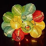 TR Turn Raise 4.8 Metros 20 LED Guirnaldas de Luces Farolillos Solares Exterior...