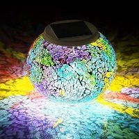 lampara solar mosaico