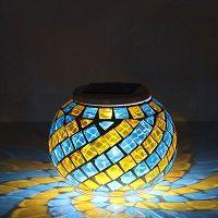 lampara solar de mesa