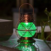 lampara solar vintage
